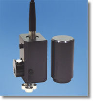 Turning the sample holder on its end enables the measurement of neat solids